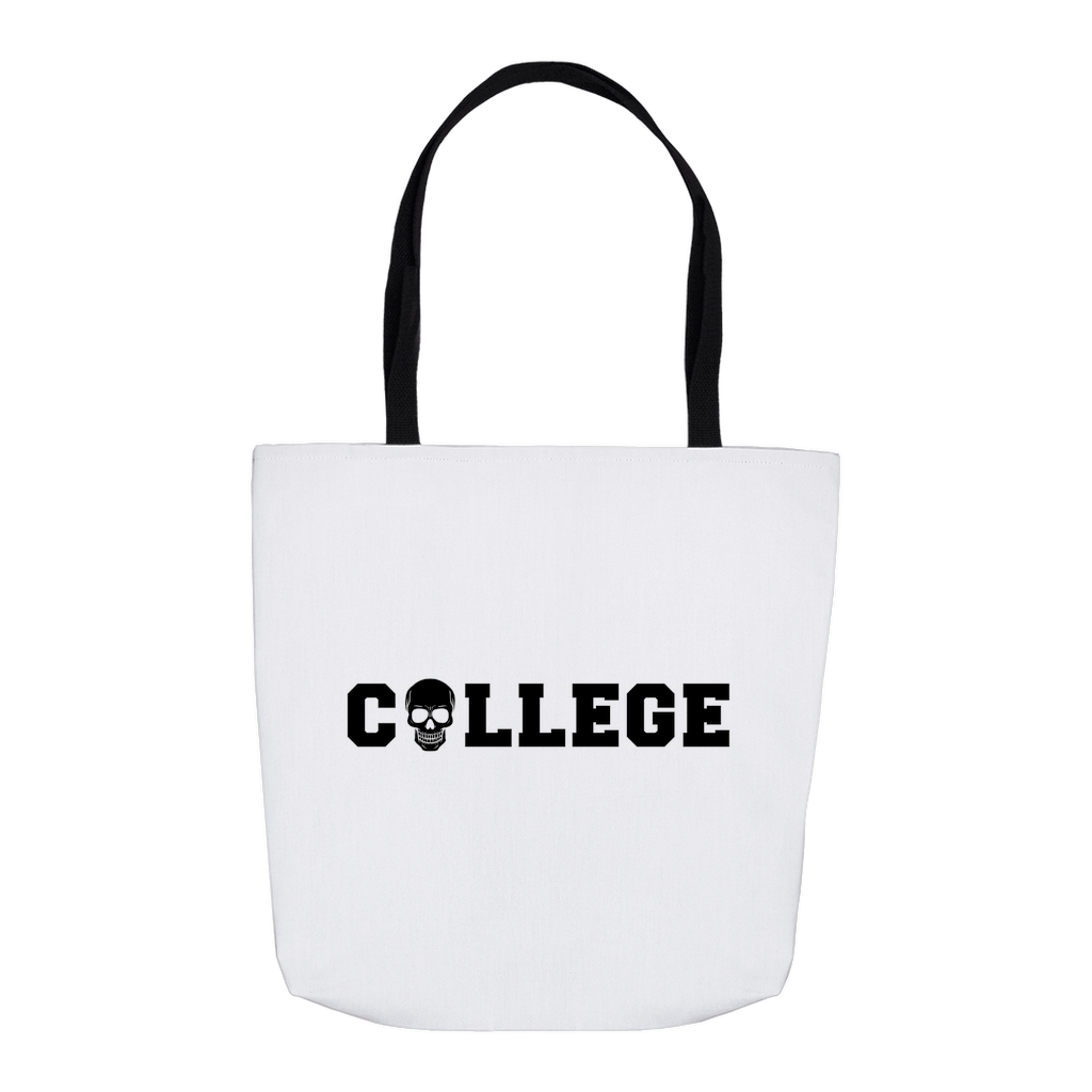 College Skull Tote Bag