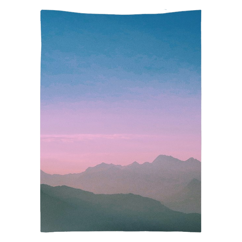 Mountains at Sunset Tapestry
