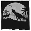 Dino Night Shower Curtain