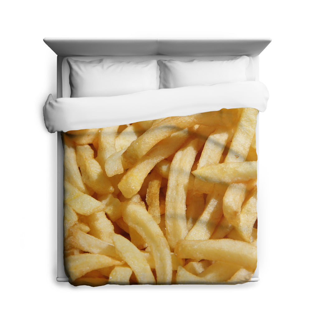 French Fries Duvet Cover