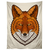 Geometric Fox Tapestry
