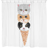 Kitty Cone Shower Curtain