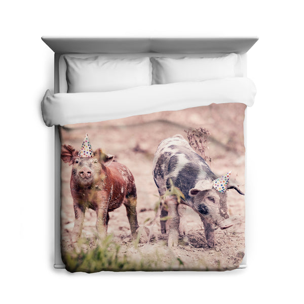 Party Pigs Duvet Cover