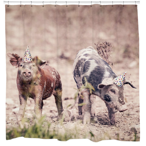 Party Pigs Shower Curtain