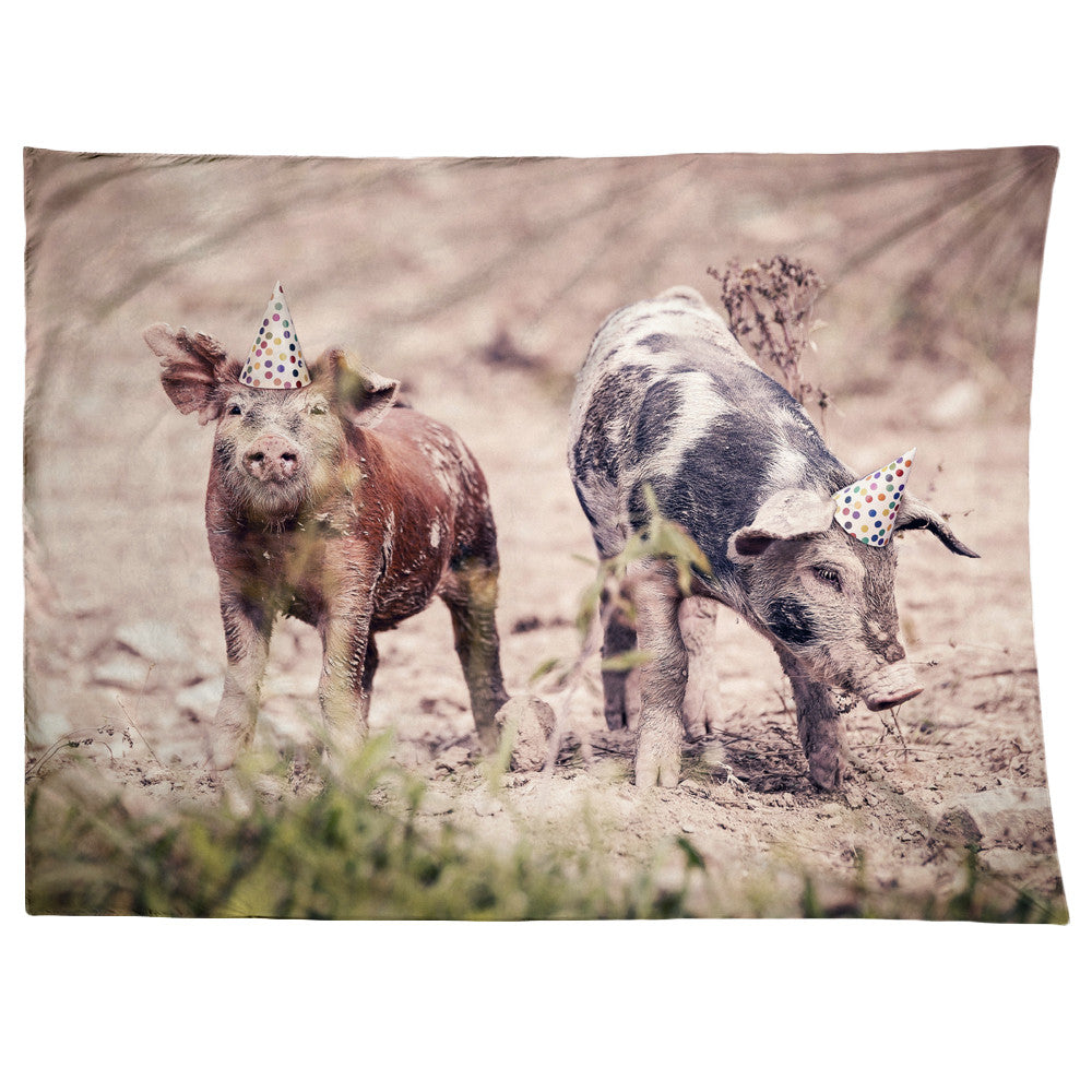 Party Pigs Tapestry
