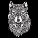 Tribal Wolf Shower Curtain