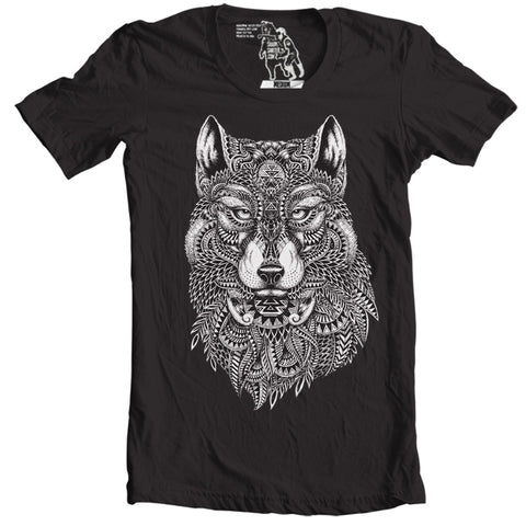 tribal wolf animal t-shirts