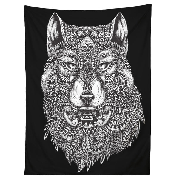 Tribal Wolf Tapestry College Magazine Shop