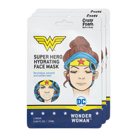DC Wonder Woman Face Mask 3 Pk