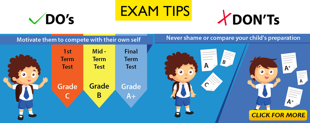 Tips for Parents during Kid's Exams