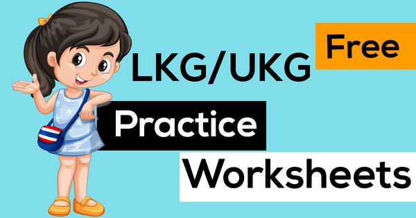 LKG & UKG Free Printable Practice Worksheets – Edurite Shop