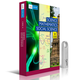 CBSE 10 Science, Mathematics, Social Science Combo DVD/USB