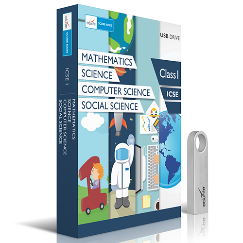 Edurite ICSE Class 1 Maths, Science, Social Science and Computer Combo DVD