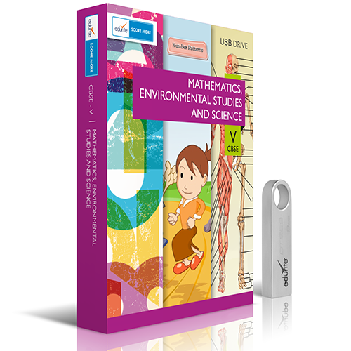 Edurite CBSE Class 5 Mathematics, EVS And Science Combo USB Pendrive