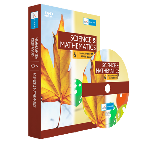 MH Board Class 6 Maths And Science Combo DVD