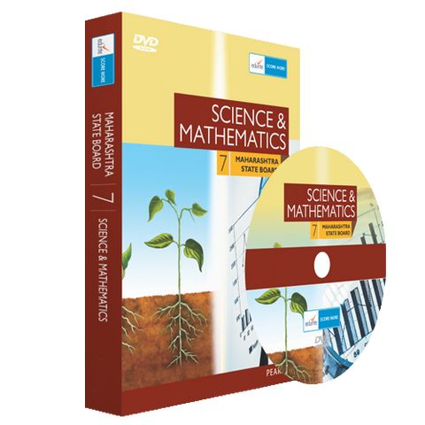 MH Board Class 7 Maths and Science Combo DVD