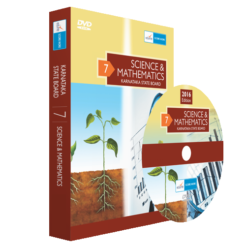 Class 7 Maths and Science combo DVD for Karnataka State Board