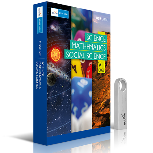 Edurite CBSE 8 Science, Mathematics, Social Science Combo DVD/USB