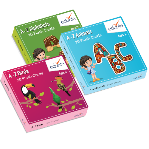 Edurite Educational Flash Cards Combo ( Alphabets,Birds & Animals )