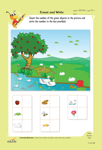 Edurite UKG Super Combo Worksheets- (Maths, English, General Awareness and Hindi Worksheets All in One)
