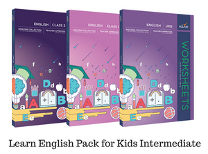 Edurite Learn English Pack for Kids Intermediate (3 Book Combo, Ideal for Age 5- 8)