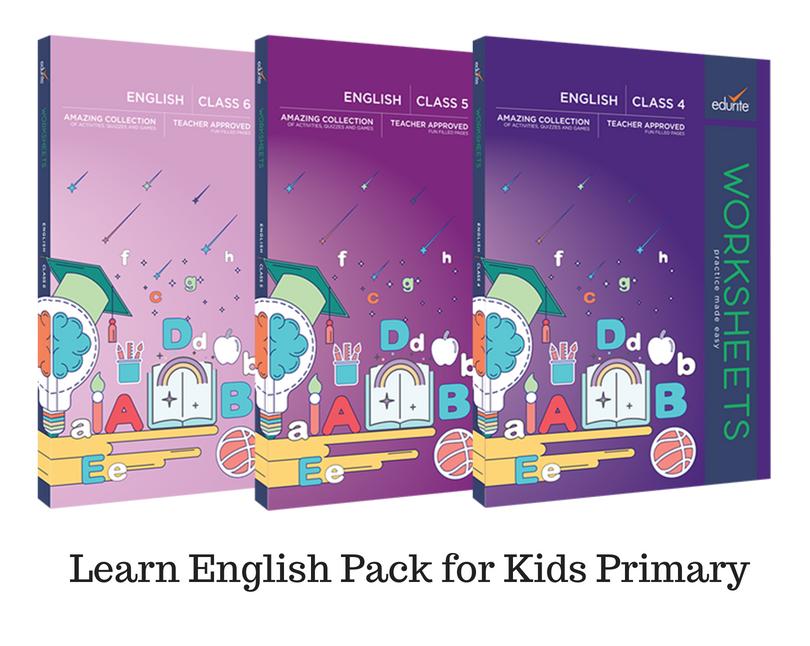 Edurite Learn English Pack for Kids Advance (3 Book Combo, Ideal for Ages 8 - 12)
