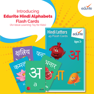 Edurite Hindi Alphabets Flash Cards - an Ideal Learning Toy for Kids