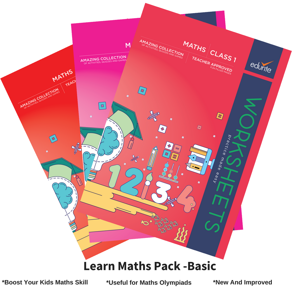 Edurite Learn Maths Pack for Kids Basic (3 Book Combo, Ideal for Age 3- 6)
