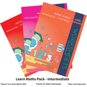 Edurite Learn Maths Pack for Kids Intermediate (3 Book Combo, Ideal for Age 5- 8)