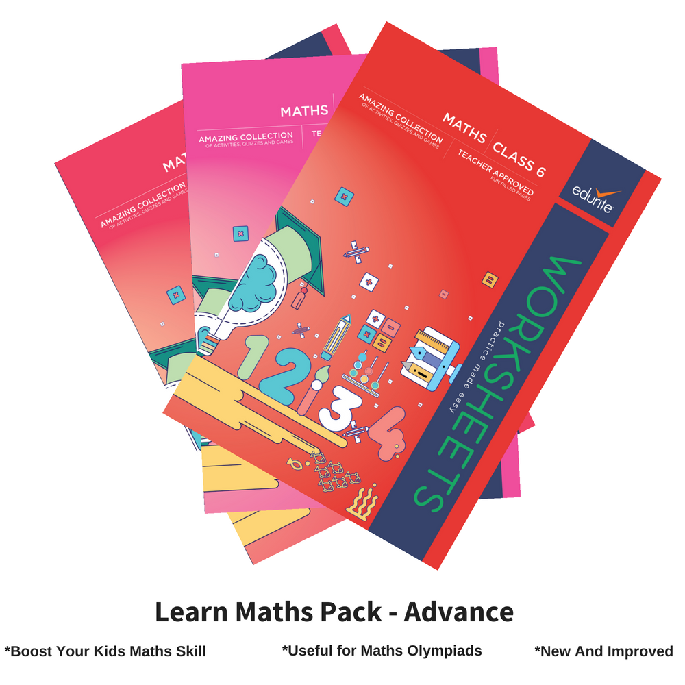 Edurite Learn Maths Pack for Kids Advance (3 Book Combo, Ideal for Ages 8 - 12)