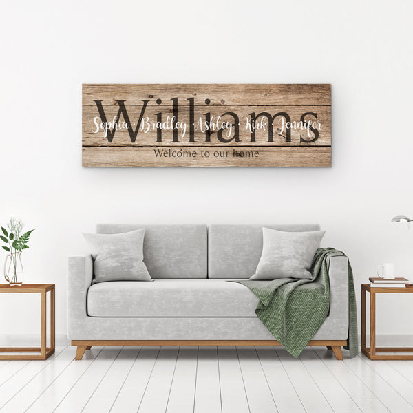 Personalized Last Name Signs