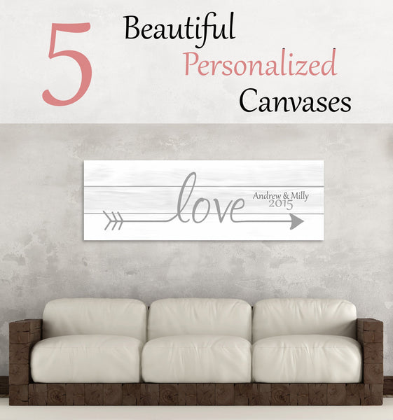 5 Beautiful Personalized Canvases They Won't Soon Forget