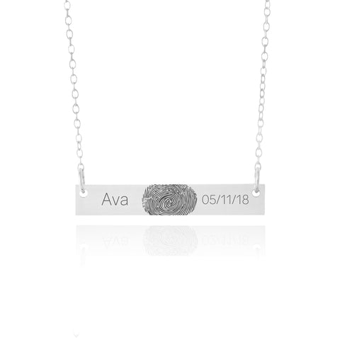 baby fingerprint necklace with date
