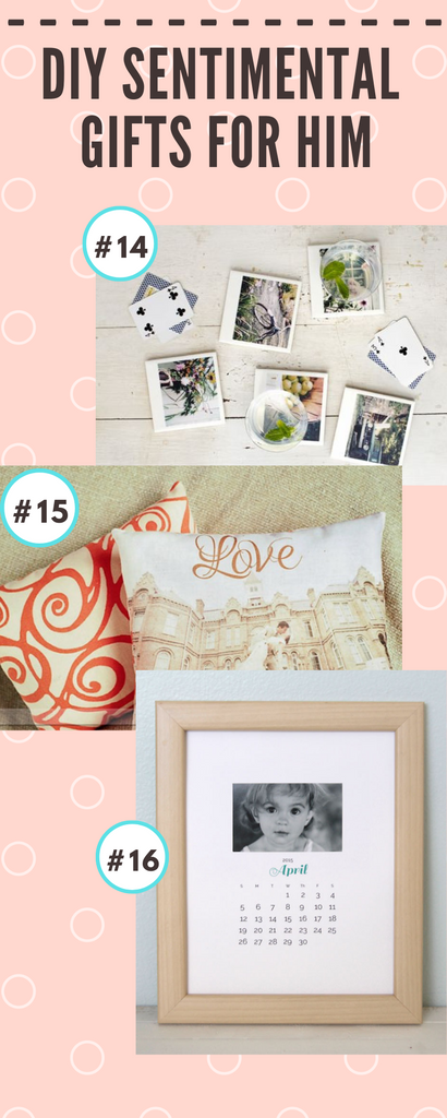 diy sentimental gifts for him