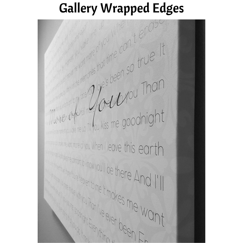 gallery wrapped edges