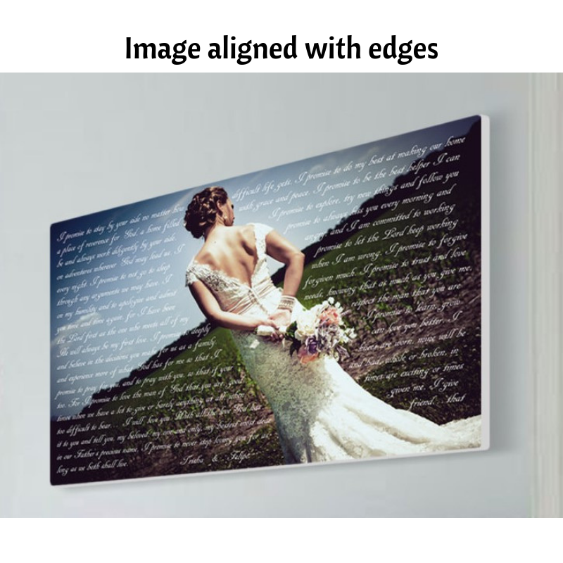 image aligned with edges