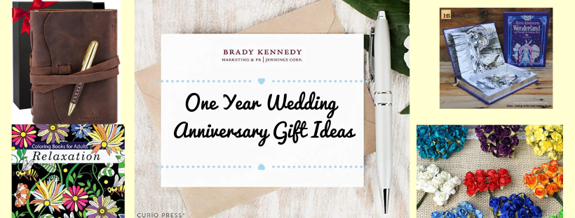 one year wedding anniversary gift ideas