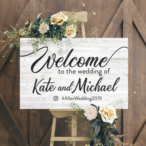 wedding welcome signs