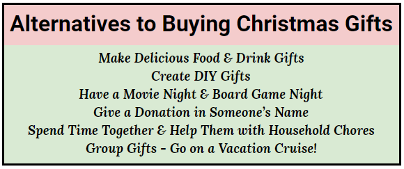 alternatives to buying christmas gifts