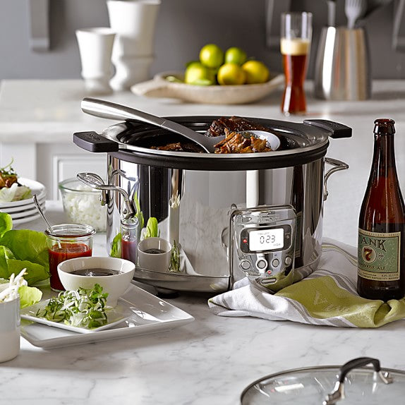 deluxe slow cooker with cast-aluminum insert