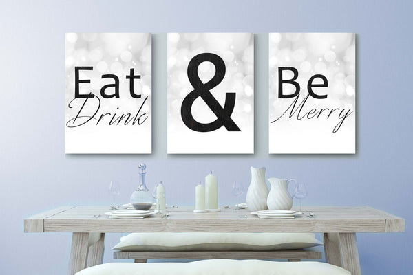 eat drink and be merry canvas print
