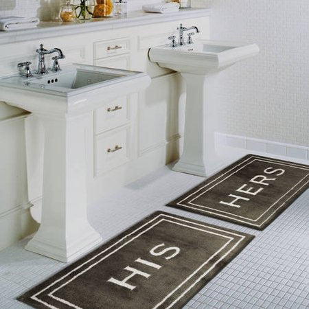 his and hers bathroom decor