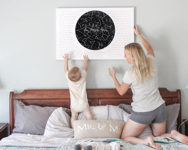 how to hang a canvas print without nails