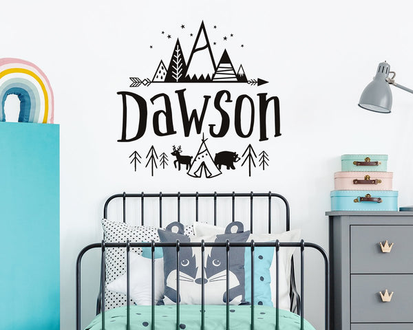 name wall decal