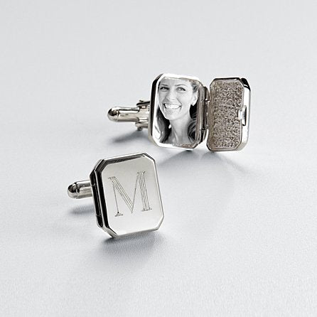 locket silver cufflinks