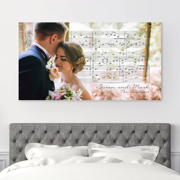 personalized canvas print with first dance song