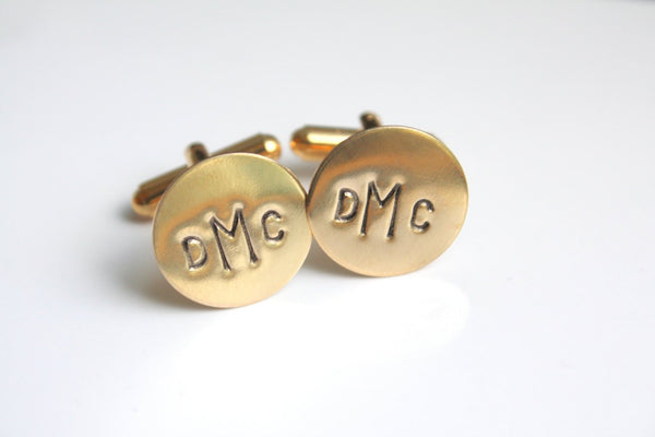 personalized gold cufflinks