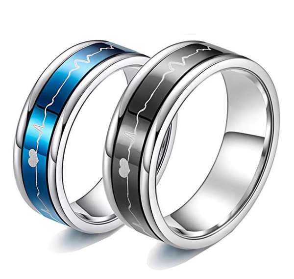romantic matching couple rings