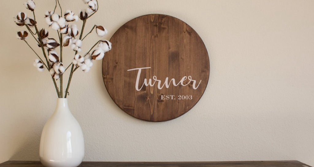 Wooden Last Name Sign