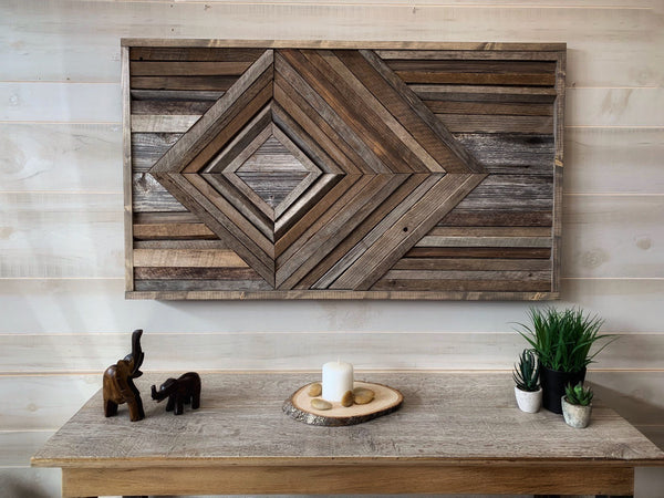 wood wall art northern oaks